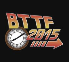 Back to the Future 2015 Logo with Clock by glucern