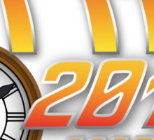Back to the Future 2015 Logo with Clock Sticker