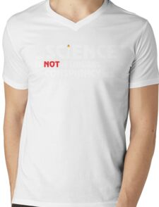 Science Is Not A Liberal Conspiracy Mens V-Neck T-Shirt