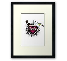 Heart Crest-Wallace Framed Print
