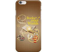 Books Unlock Worlds iPhone Case/Skin