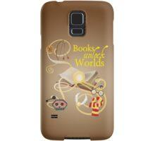Books Unlock Worlds Samsung Galaxy Case/Skin