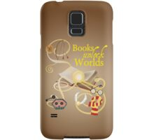 Books Unlock Worlds Samsung Galaxy Case/Skin