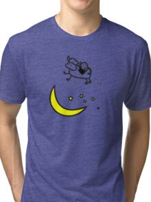 Over the Moon - Cow Love Tri-blend T-Shirt