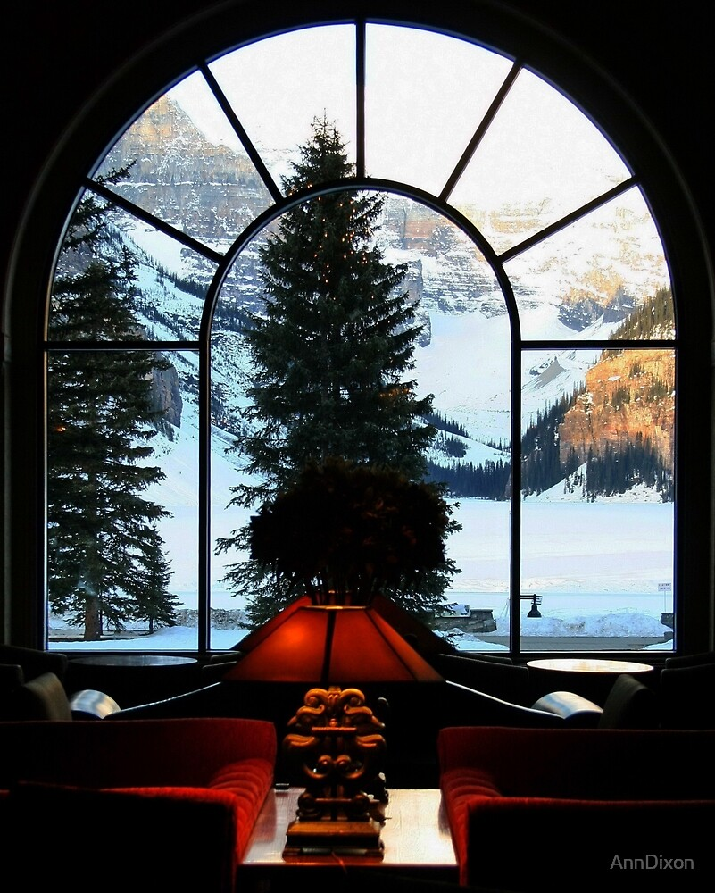 Looking out onto Lake Louise by AnnDixon