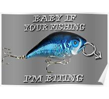 <º))))><    BABY IF YOUR FISHING I'M BITING <º))))><     Poster