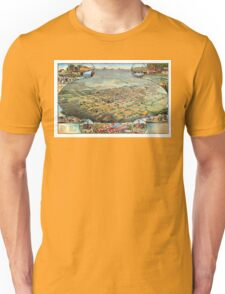Bird's eye view of Phoenix - Arizona - 1885 Unisex T-Shirt