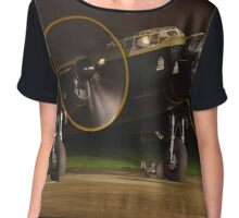 Lancster Night time engine run Chiffon Top