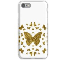 Butterfly, Kaleidoscope | Gold iPhone Case/Skin