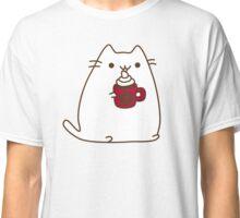 Cute Kawaii Hot Cocoa Cat Classic T-Shirt