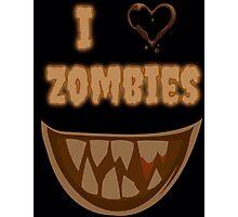 I Heart Zombies (black) Photographic Print