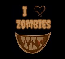 I Heart Zombies (black) by AngiiiOskiii78