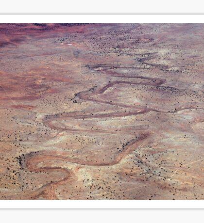 Scarred Desert Sticker