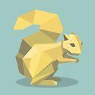 Origami Squirrel by Angela Haddon