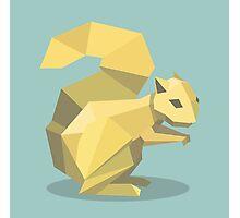 Origami Squirrel Photographic Print