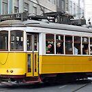 Yellow tram of Lisbon - Portugal by Arie Koene