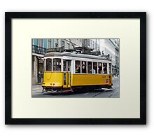 Yellow tram of Lisbon - Portugal Framed Print