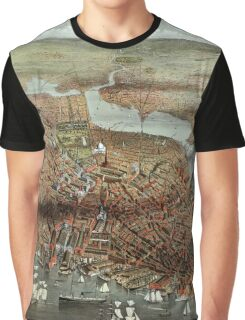 The City of Boston - 1873 Graphic T-Shirt