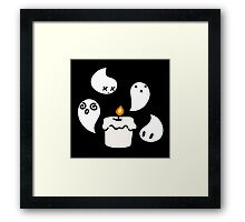 White Candle Ghost Framed Print