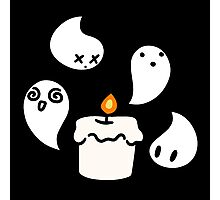 White Candle Ghost Photographic Print