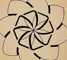 Mandala #207 || Tan by RedBookJournals