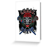 Cheat Death - lacrosse Greeting Card