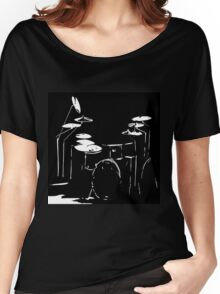 Drum kit black and white Women's Relaxed Fit T-Shirt