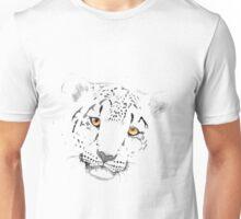 Snow Leopard Watercolour Unisex T-Shirt