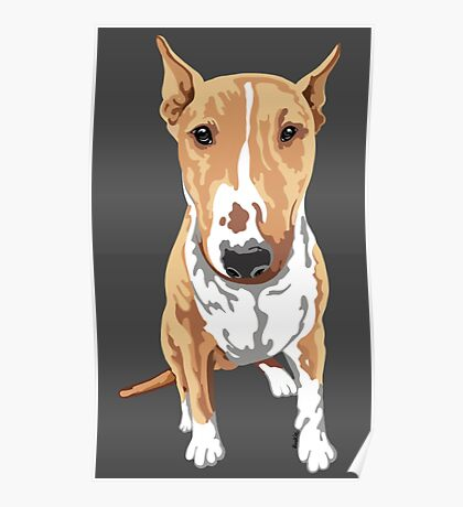 Aria The Bull Terrier Poster