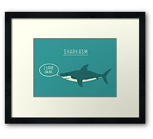 Sharkasm Framed Print