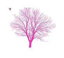 Neon Pink Tree Design by Cyrca Originals Photographic Print