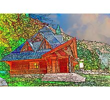 Wooden house of forester Photographic Print