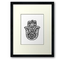 The Hamsa Hand Framed Print