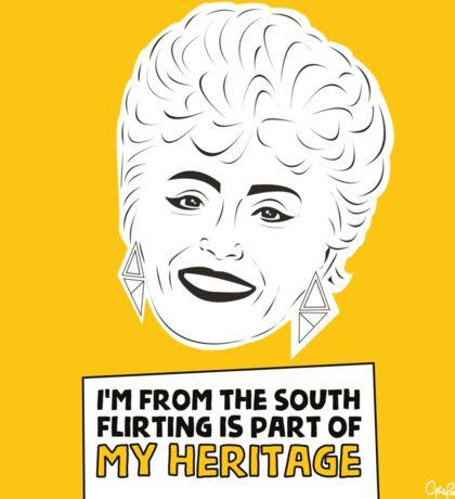 The Golden Girls - Blanche Devereaux print Sticker