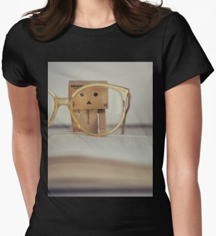 Danbo at school Womens Fitted T-Shirt