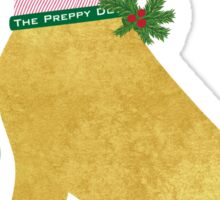 Yellow Lab Preppy Dog Christmas Sticker