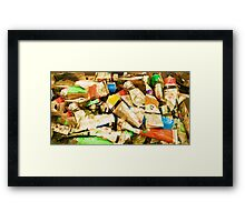 Empty tubes of under paint Framed Print