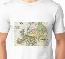 Old commercial map Europe Unisex T-Shirt