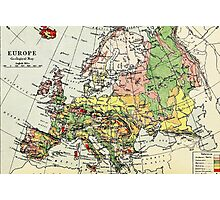 Old commercial map Europe 1865 - 1907 Photographic Print