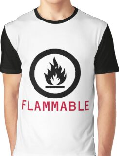 Flammable Warning Graphic T-Shirt