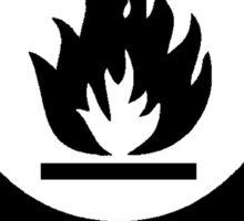 Flammable Warning Sticker