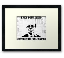 Switch Off Framed Print