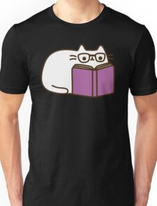Cute Kawaii Nerd Cat Unisex T-Shirt