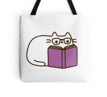 Cute Kawaii Nerd Cat Tote Bag