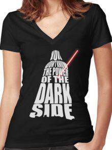 Darth Vader Women's Fitted V-Neck T-Shirt