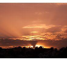 Golden skies Photographic Print