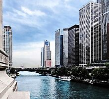 Chicago - View From Michigan Avenue Bridge by Susan Savad