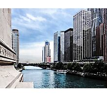 Chicago - View From Michigan Avenue Bridge Photographic Print