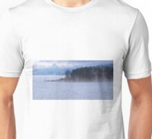 Misty Morning Lakefront Unisex T-Shirt