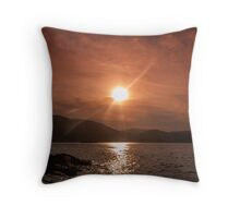 The sea is warming up... Throw Pillow